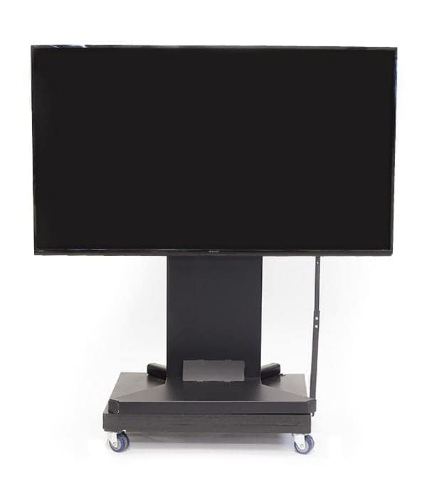 A Large HD Screen Sits On Nomad 2.0 With Wheels For Easy Movement
