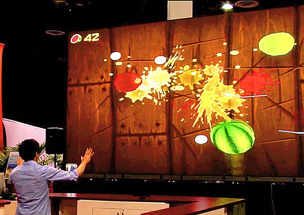 Giant Video Walls That Are Touch & Gesture Recognition Capable.