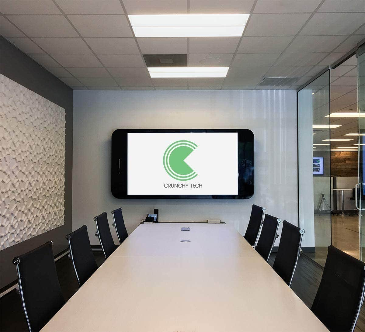 custom conference rooms crunchy tech - Conference Hall Interior Design